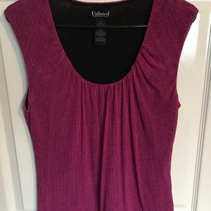 Pink and Black Tank Top Blouse by Unlisted Size M